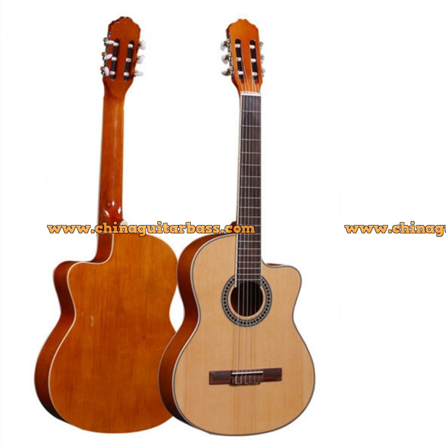 40 Inch Solid Top Acoustic Guitar with Matt Finish
