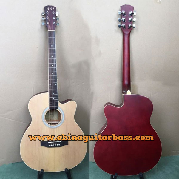 41 Inch Spruce Linden Acoustic Guitar in Matt Finish