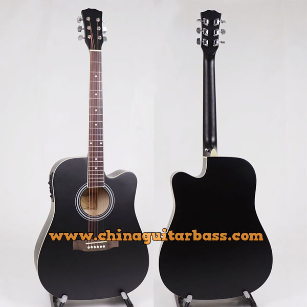 41 Inch Linden Acoustic Electric Guitar with Matt Finish