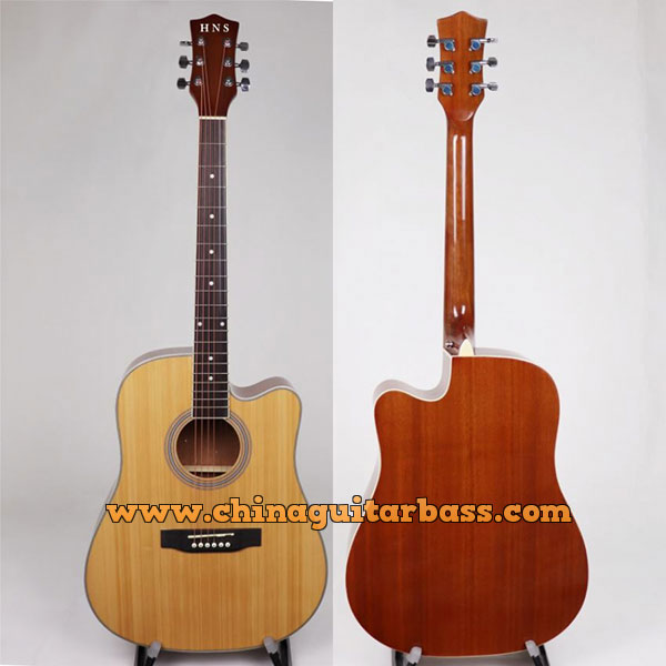 41 Inch Spruce Sapele Acoustic Guitar With Gloss Finish