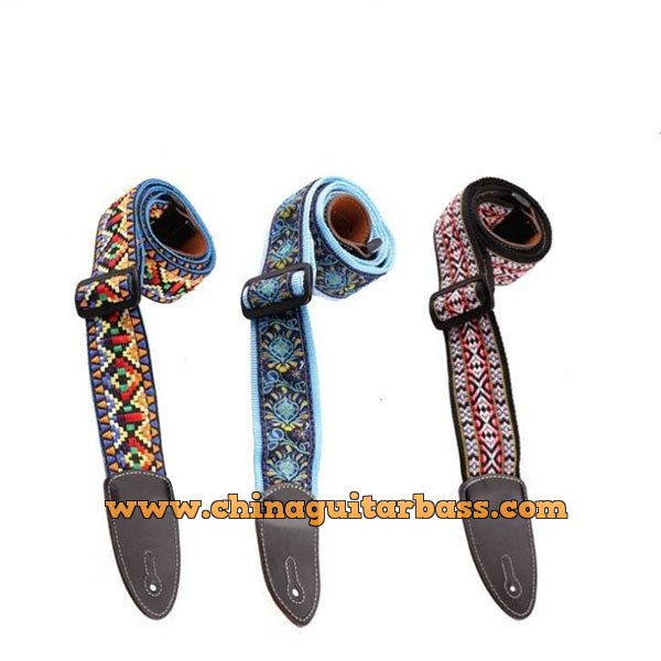 Guitar Strap with Embroidery Image